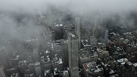 New York cityscape via Empire State Building observation point.
