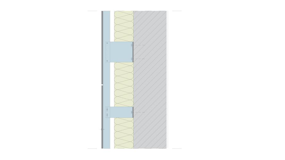 drawing, build, construction, cladded facade, ventilated facade, vhf, vorgehängte hinterlüftete fassade, aufbau, wand, dämmung, bekleidung, germany