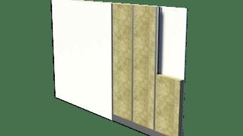 Wall insulation, wall, partition wall, innervägg av trä och stål