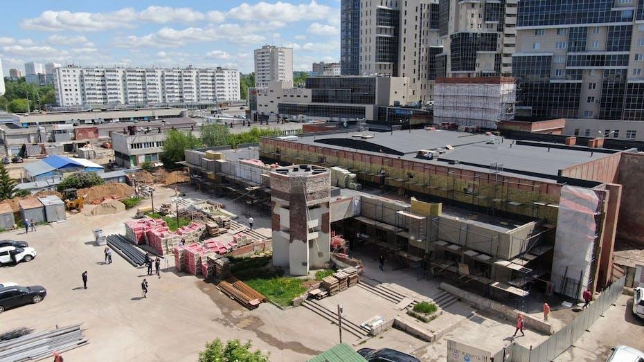 Center Chulpan, Kazan, Tatarstan, roof, facade, Roof Batts V Ekstra, Roof Batts N Ekstra, Venti Batts D Optima, Karkas Batts
