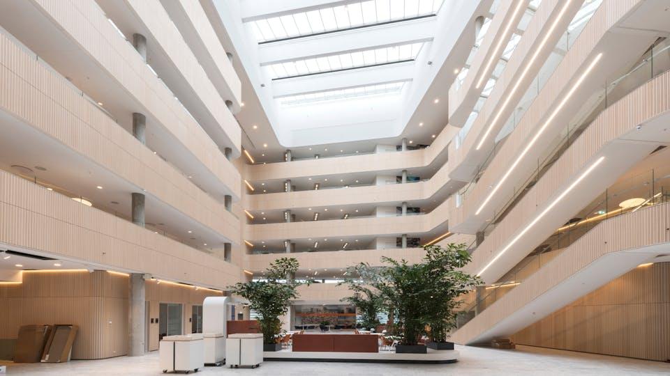 Acoustic ceiling solution: Rockfon Blanka®, X, 1200 x 600