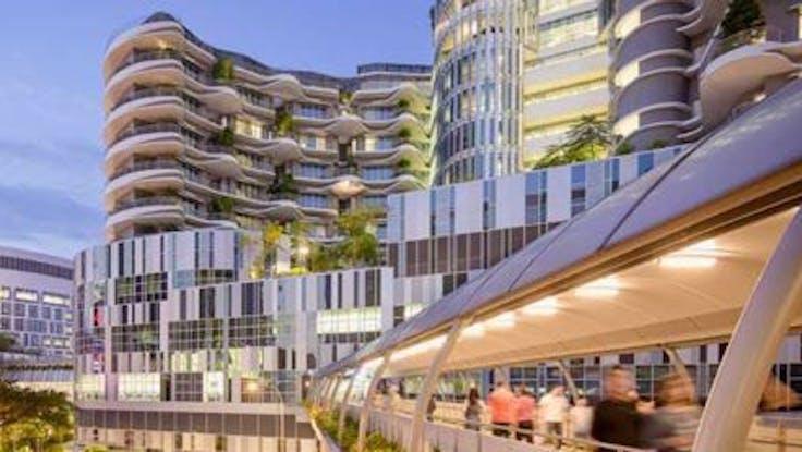 RockWorld imagery, Ng Teng Fong General Hospital, building