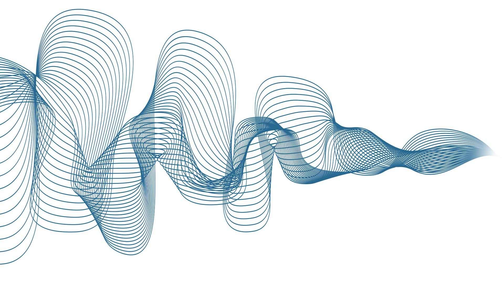 campaign illustration, dB campaign, dB range,  office, sound wave, sound insulation, sound absorption