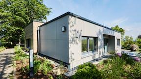Rockpanel Case Study Dentist Nagold - Germany Rockpanel Woods Rhinestone Oak Rockpanel Stones Concrete Platinum