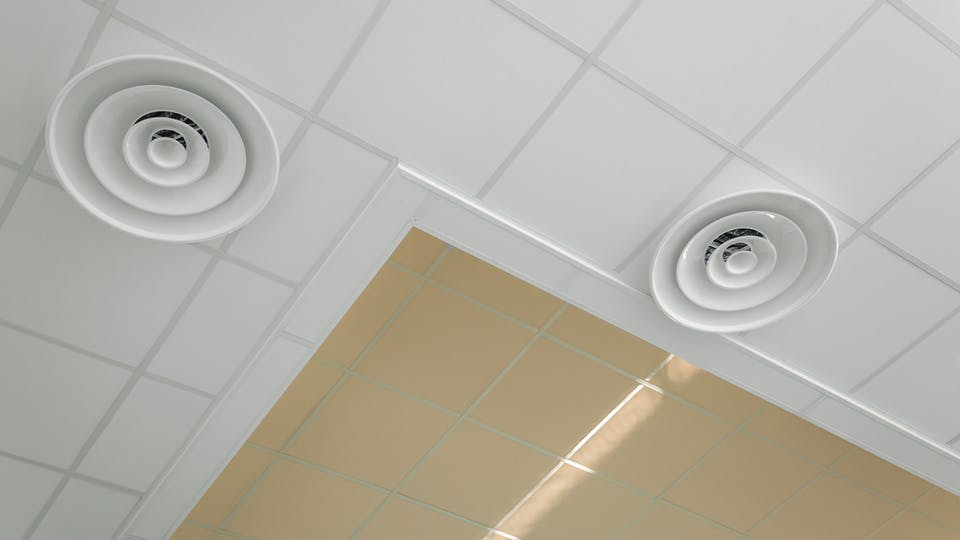 Acoustic ceiling solution: Rockfon Color-all®