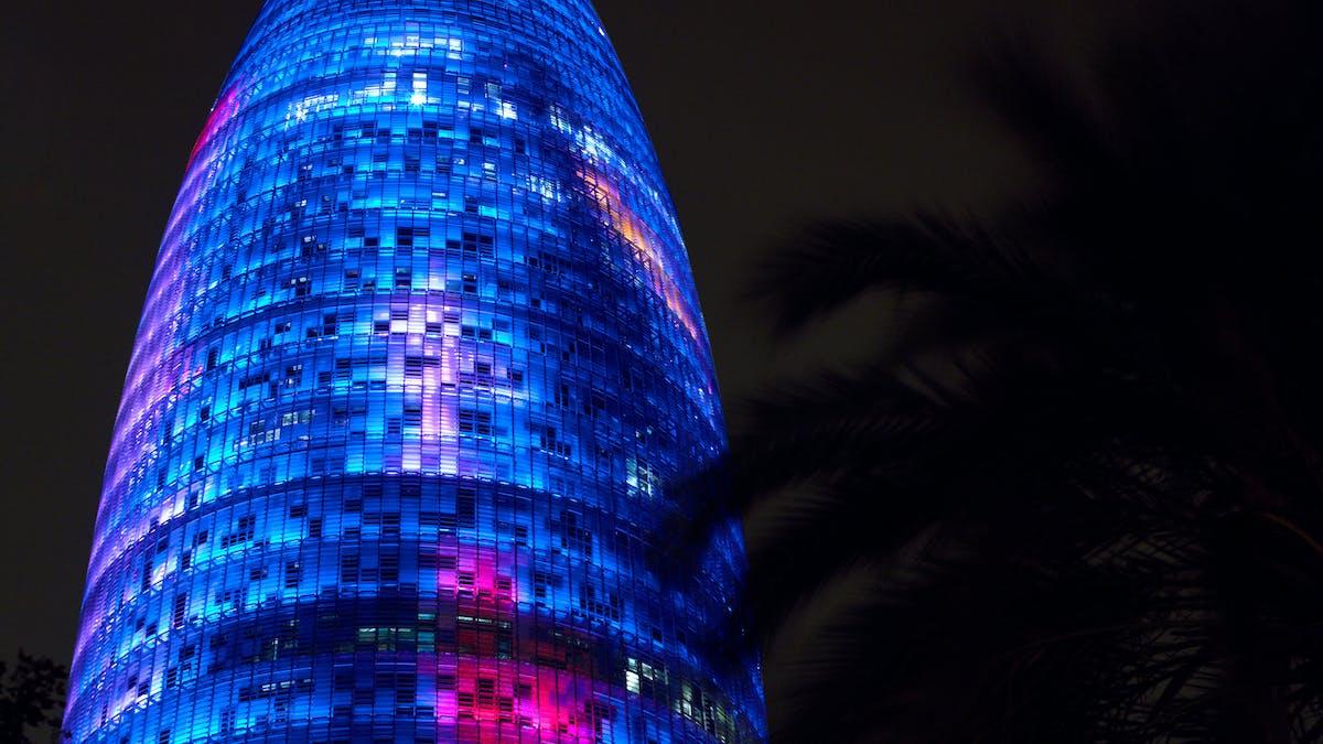 Agbar Tower, Circularity, night