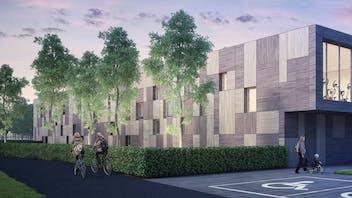 Zwevegem swimming pool, REDAir, RockFit Duo, ventilated facade
