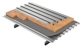 Flat roof, Cubiertas planas engatillada METALROCK