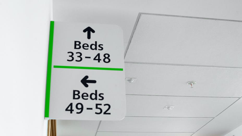 Southmead Hospital,UK,Bristol, 110,000m2 installed in total by CCP (not all ROCKFON), Main Contractor - Carillion, North Bristol NHS Trust, Carlton Ceilings & Partitions, Slough, Julian James, MediCare Standard, E-edge, 1200 x 600, White, Rocklink 24