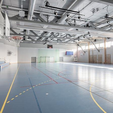 parafon, tiles, slugger, project, victoria, school, skara, gymnasium, interior