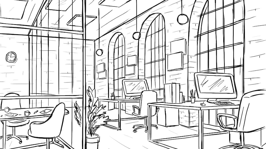 Sketch - Office, workplace