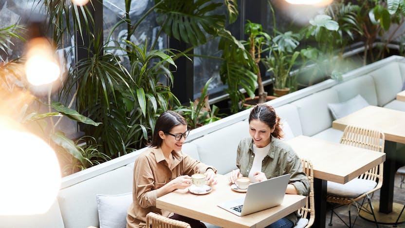restaurant, leisure, people, girls, friends, brand refresh, women, dinner, lunch, eating, Rockfon