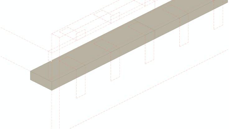 Installation process Curtain Wall - System MC 60-90 Firestop strips, curtain wall, fire protection, facade, installation, FP.  Proceso de instalación Sistema Conlit MC 60-90: Instalación paso a paso, Franja cortafuego, muro cortina, fachada panel. Conlit Alu  Step 5. Paso 5