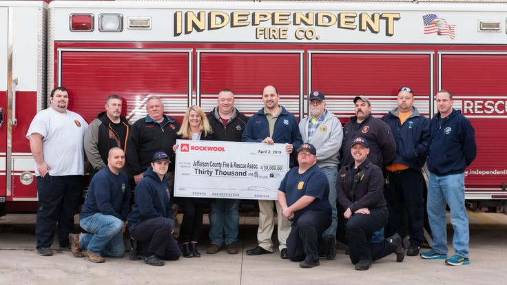 Jefferson-County-Fire and Rescue Association-Rockwool-corporate citizenship and responsibility in Ranson, West Virginia