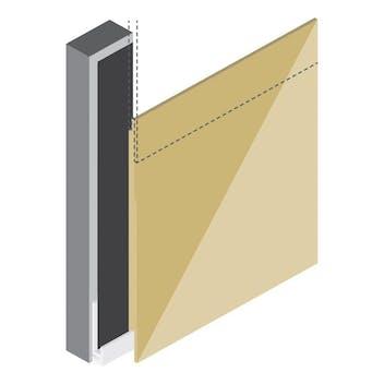Профиль K - Начальный профиль Rockpanel Lines²