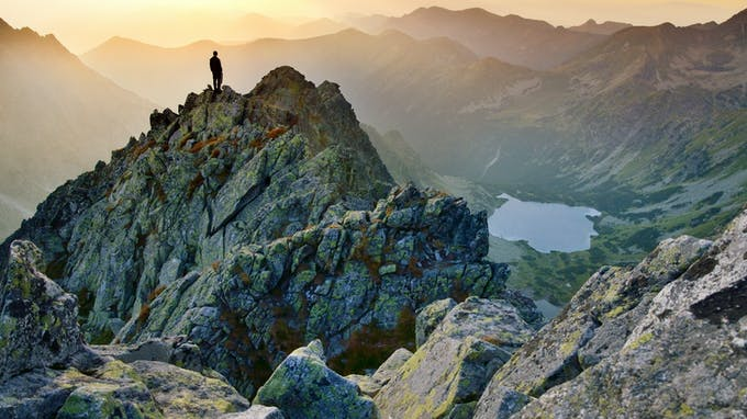 RockWorld imagery, The big picture, rock, mountains, lake, view