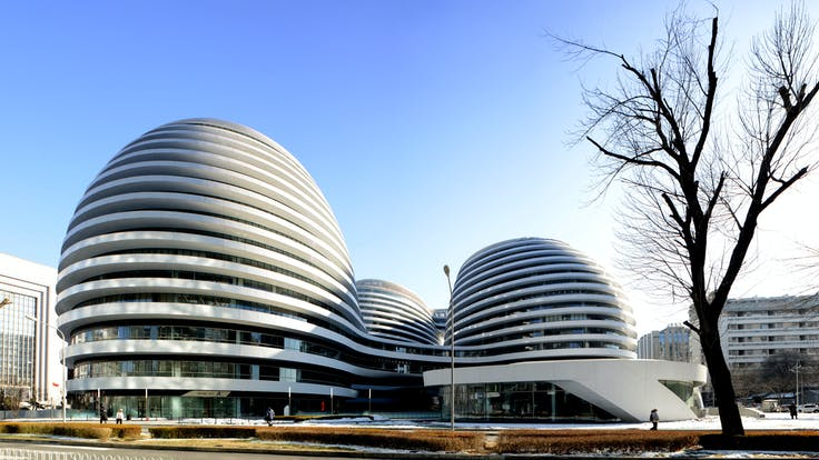 Galaxy SOHO;Modern commercial Architecture;Landmark building in Beijing. Wangjing SOHO