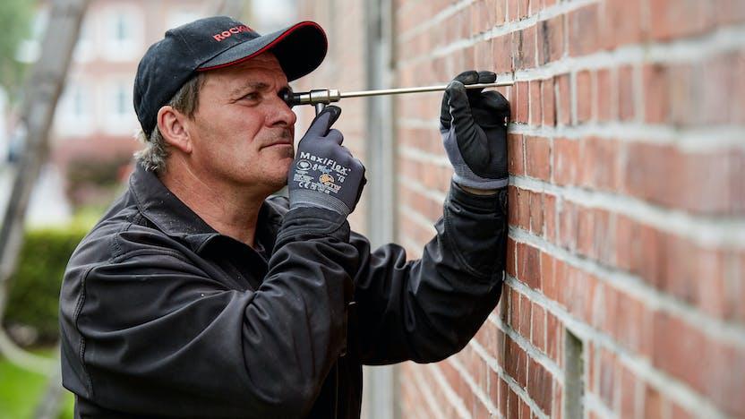 blow-in insulation, brick wall, eds, einblasdämmung, fillrock, fillrock kd plus, germany