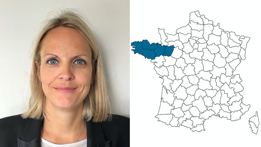 contact person, sales, profile and map, Mathilde Mainpin, rockfon, france, FR