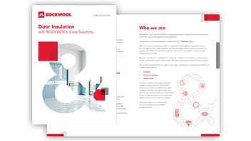 ROCKWOOL Core Solutions thumbnail image for doors brochure in English.