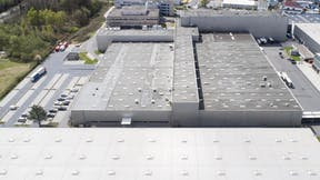 product header, monrock max e, industry, flat roof