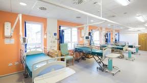 UK, Glenfield Hospital, Healthcare, P+HS Architects, Rockfon Medicare Plus, 600x600, white