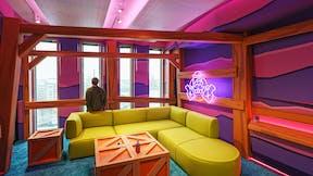 Meeting room in office Wood City in Helsinki Finland with Rockfon Blanka in As-edge
