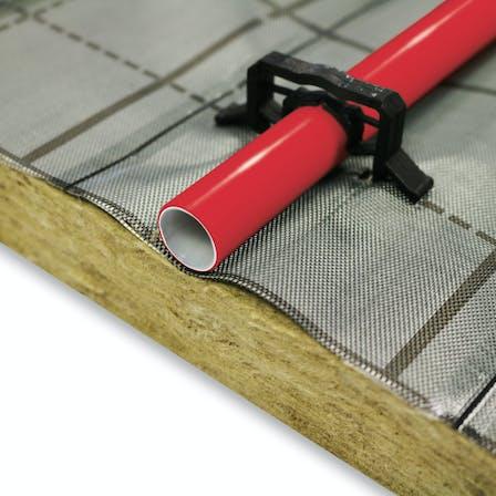 floorrock heat, bodendämmplatte, flächenheizung, fußbodenheizung, trittschalldämmung,floor insulation, area heating, underfloor heating, impact sound insulation, press, presse, Germany
