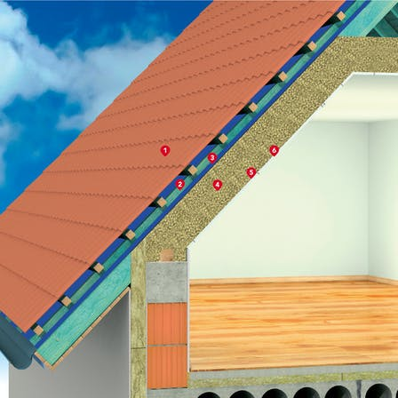 pitched roof, granulate, GRANROCK SUPER,