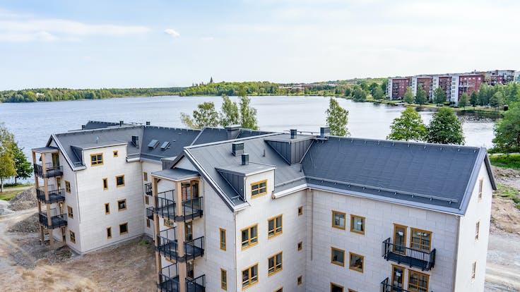 Reference case, Sweden, Växjö, Arken, KL-trä, massive wood, REDAir FLEX, REDAir LINK, apartments