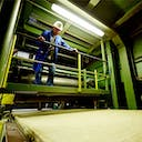 rockwool employee, production, stone wool, production line, production facility, germany