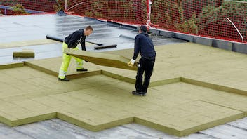 product, flatroof, flat roof, durock 037, installation, installer, reference, rockwool forum, flachdach, germany