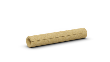 Stone wool pipe section. Pipe insulation, HVAC. Products: COQUILLA 880