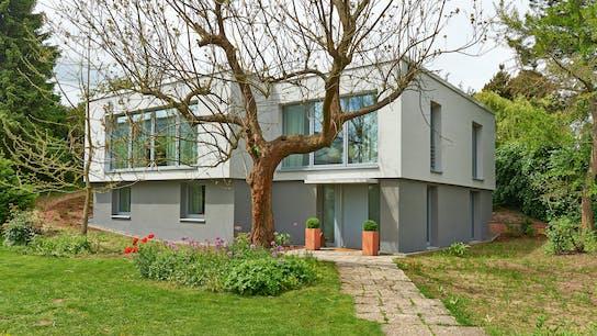 presse, komplettsanierung, einfamilienhaus, haus, flachdach, press, germany, single family house, wdvs