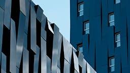 Ventilated facades, black facade