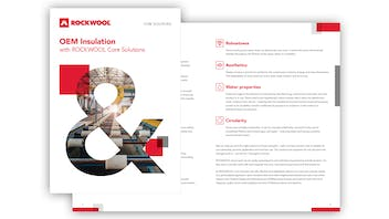 ROCKWOOL Core Solutions thumbnail image for OEM brochure in English.