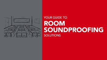 Version 2: Your guide to room soundproofing solutions - header for the blog article - updated version for cropping to use as the hero image.
