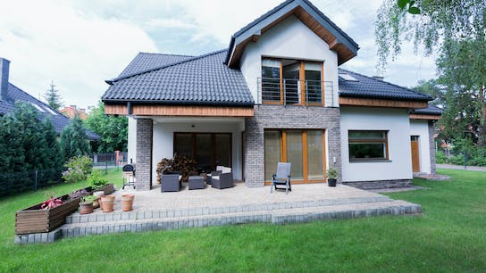 house, example, contractors, single family house, living