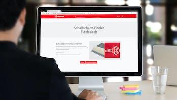 schallschutz-finder flachdach, teaser, teaserbild, schallschutz tool, germany