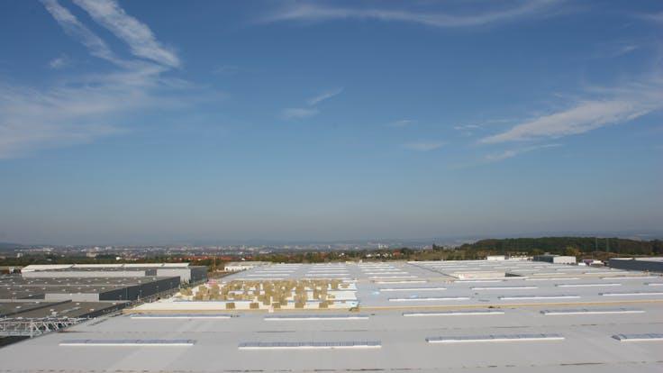 flatroof, flat roof, bonded flat roof, germany