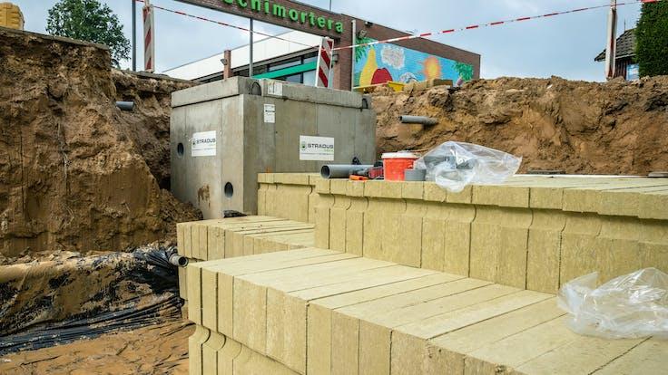 water management, hole, pit, stonewool, school, installation, lapinus
