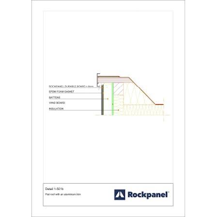 Rockpanel CAD drawing 1-501b