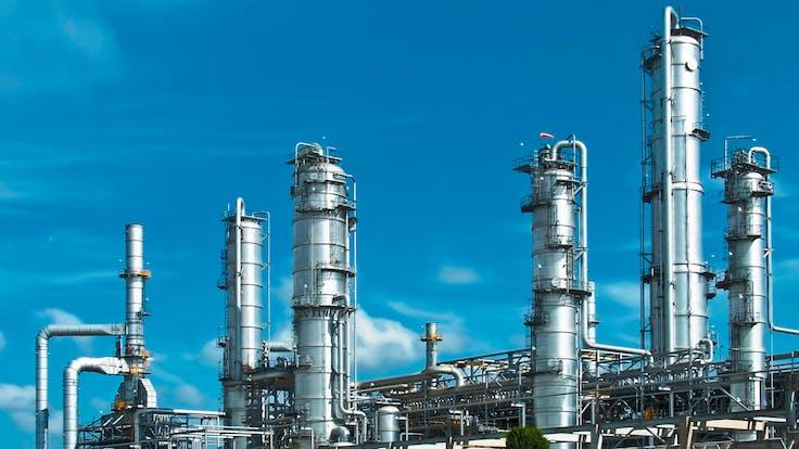 gaskets, factory, pipes, sky, blue, metal, lapinus