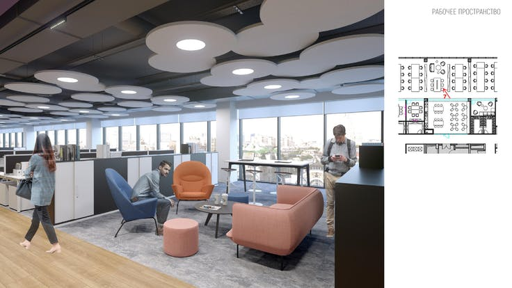 contest contribution - Concept-of-Ceiling_coty office, Rockfon, RU