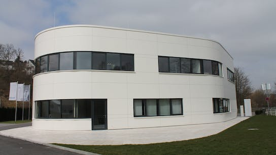 Office building in Olpe, Gemrany with Rockpanel Colours exterior cladding