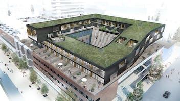 Reference case, Sweden, Umeå , BRF Glitne, REDAir System, facade, KL-träprojekt,