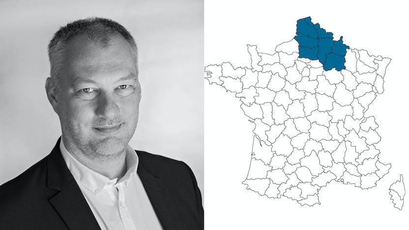 contact person, sales, profile and map, Laurent Vanderschelden, rockfon, france, FR