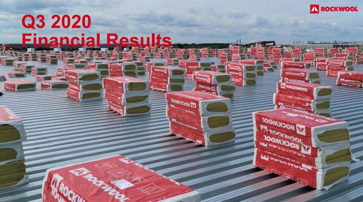 Screen dump of Q3 2020 Financial Results Presentation