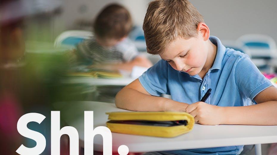 education, class room, school, children, writing, brand campaign, shh