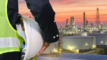 engineer, worker, safety, helmet, process, petrochemical, industry, industrial, evening, plant, ProRox, one person, back